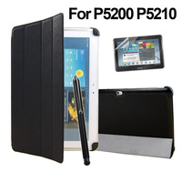 Case for Samsung Galaxy Tab 3 10.1 P5200 P5210 P5213 Magnetic Ultra Slim Leather Case & Stylus Pen+Screen Protectors As Gift