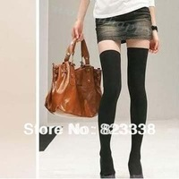 Free shipping knit thigh knee high sexy women Stockings