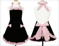 Avental De Cozinha Accessories Aprons Princess Work Wear Thickening 100% Cotton Oversleeps Bandanas Hotels Nail Lotus Leaf Lace