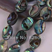 "New Zealand Abalone Shell Oval Loose Beads 16"" Jewelry Making P031"