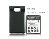 Free Shipping For Samsung Galaxy S2 SII i9100 Battery Phone Replacement Extended Thicker 3500mah Battery with Back Cover Black