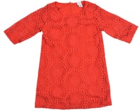Free shipping retail new summer and spring,children clothing,girls chiffon lace dress with half-sleeve Princess red