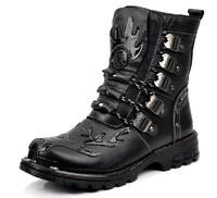 Genuine leather men shoes military outdoor boots platform men boots shoes 2014