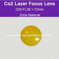 Free Shipping USA ZnSe Material Co2 laser focus lens Dia20-FL38.1mm