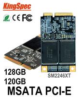 kingspec mSATA SATA3 SATA2 120GB ssd 128GB Hard Drive Solid State Drive Disk SM2246XT 3*5cm >Mini PCIE MSATA ssd 32GB 60gb 64gb