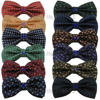 CTH new men's fashion bow tie  woven  jacquard  classical dot flower bowtie for man free shipping