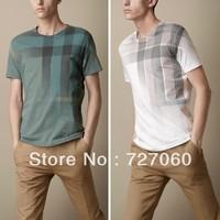 Free Shipping 2013  Hot Sale New Fashion Men T shirt Short Sleeve T-shirt Slim Fit Man Clothing Brand DesignerT shirt