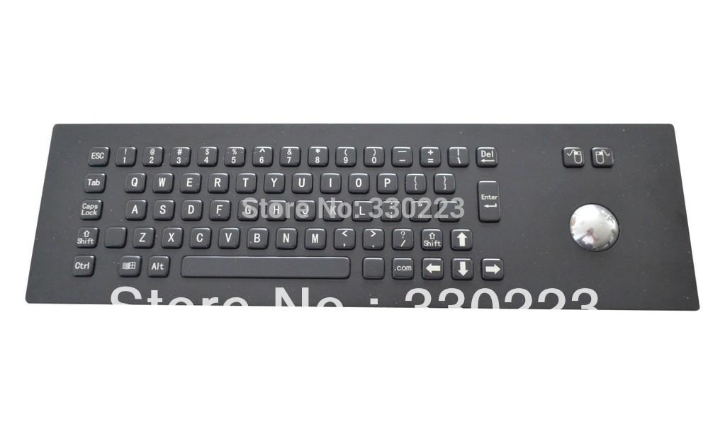 Metal mechanical keyboard Metal PC keyboard military keyboards industrial trackball ruggedized keyboards(China (Mainland))