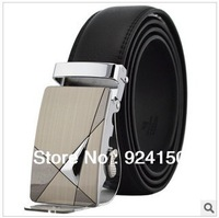 New Arrive / Best Design Men strap cowhide strap male genuine leather strap automatic buckle double faced cowhide belt luxury