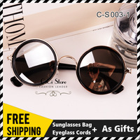 6 COLORS FREE SHIPPING 2013 HOT SALE New Arrival Women Steampunk Vintage Excellent Quality Sports Sunglasses Outdoor Sun glasses