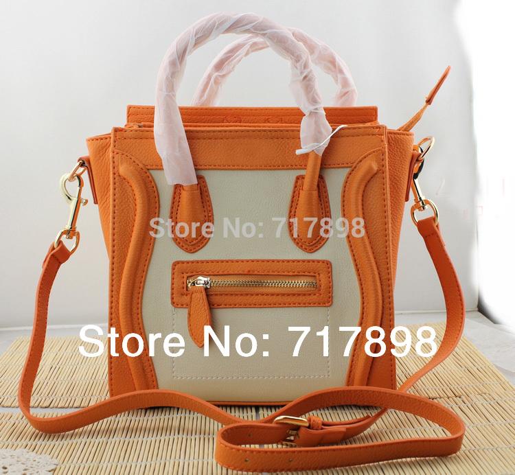 Weekender Bags For Women Free Shipping 2014 New Women Messenger Bags Mini Portable Smiley Bag High