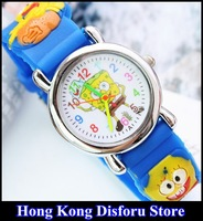 SpongeBob cartoon children watch clap watch student watch quartz watch*Gift Box