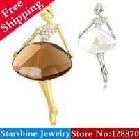 Min Order $5 Mix PL08006  ballet girl elegant brooch