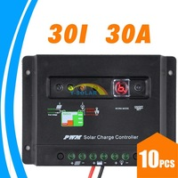 10pcs lots!30A 30 Amps Solar Charge Controller with light and timer controller PV battery Charge Regulator