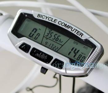 28 Functions Waterproof Digital LCD Backlight Bicycle Computer Odometer Velometer Bike Meter Speedometer SD558A Clock Stopwatch