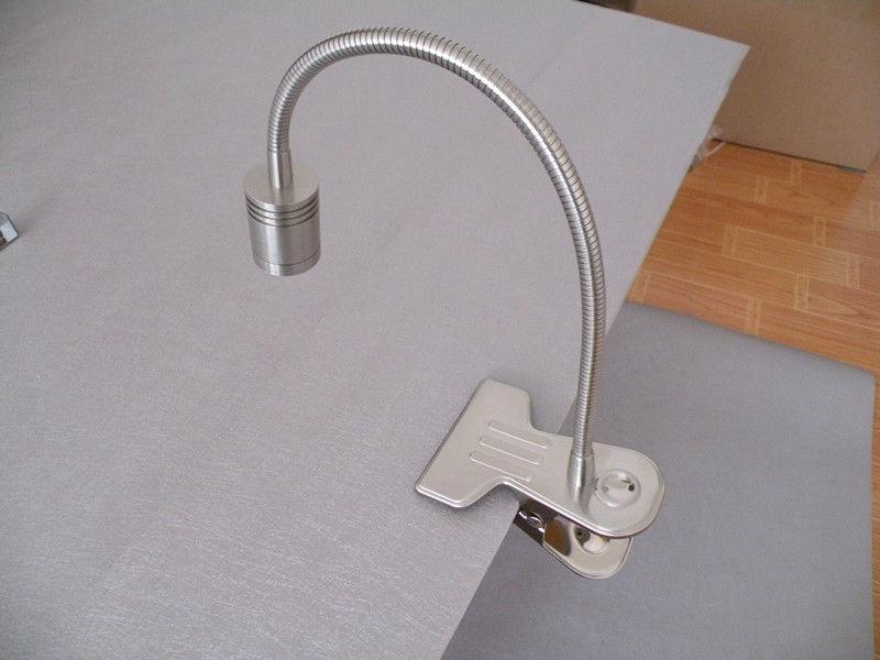 made clip led table light desk lamp headboard lighting 3w. Black Bedroom Furniture Sets. Home Design Ideas
