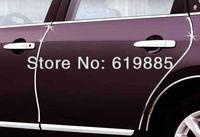 4m*1.8cm Silver U Style For Pontiac Ford Honda Nissan Chevrolet Skoda Hyundai Car Trim  DIY Door Edge Guards Protectors