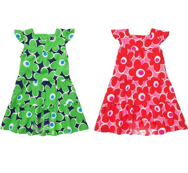 New Arrival Children's Clothing Carters Female Child 100% Cotton One-piece Butterfly Sleeve Princess Dress,2 Colors,BB01(China (Mainland))