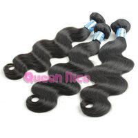 QNice Hair Unprocessed Free Shipping 6A Peruvian Virgin Human Hair Weaves Wavy Peruvian Virgin Hair Body Wave 2 pcs Lot