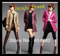 Free Shipping BRAND  Women's Fashion Down Jacket Winter Slim Warm Down Coat with a Hood Snow Outwear