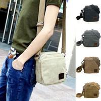 Men Small Casual Bolsa Satchel For Masculina Pequena Shoulder-Bag Cross Body Bolsos Crossbody Shoulder Messenger Canvas Bag S140