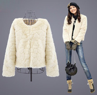 Rex Rabbit Hair Fur Coat Outerwear Short Design Spring And Autumn Women's