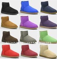 Free Shipping Classic Mini Boots 5854 Womens Australia Snow Boots 100% Real Twinface Sheepskin, U Brand Winter Boots Size US5-10