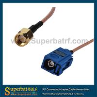Superbat 25pcs Fakra Jack  to SMA Plug pigtail Cable RG316 1M
