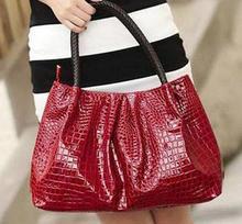 popular black patent tote bag