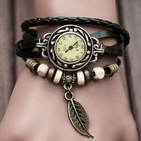 New Women's Leather Strap Bracelet watchband Watch Vintage Watch Dress Wrist Watch Girls Butterfly Watch Weave braid watch
