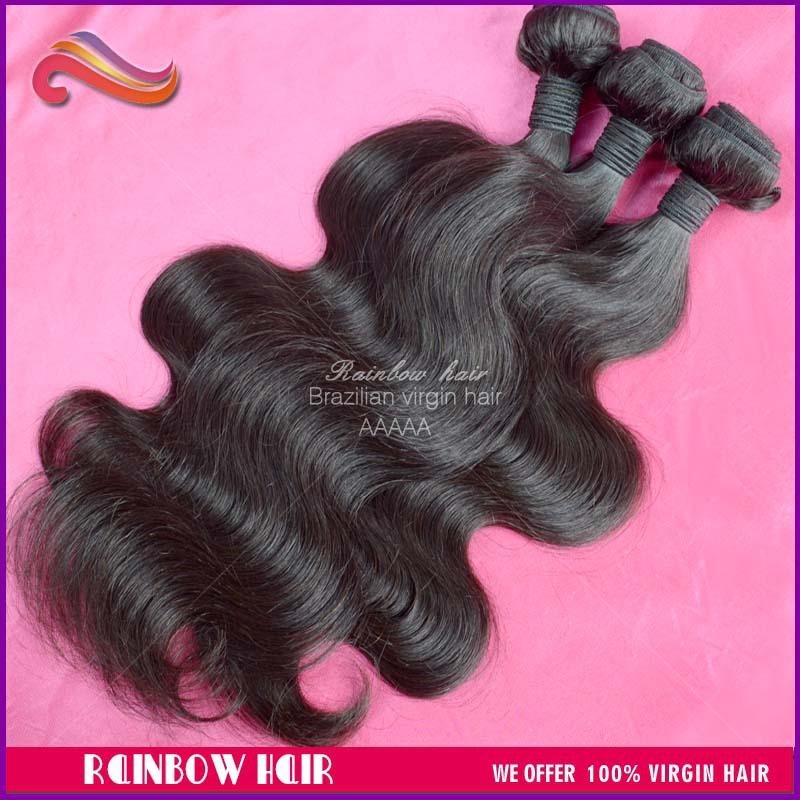 "Brazilian virgin hair body wave 3pcs/lot human hair weave wavy hair extension 10""~ 30"" Mixed length acceptable(China (Mainland))"