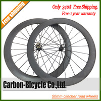 399$ ONLY!!!50mm clincher light bike wheelset 700c rims carbon fiber road racing bicycle wheels FREE SHIPPING