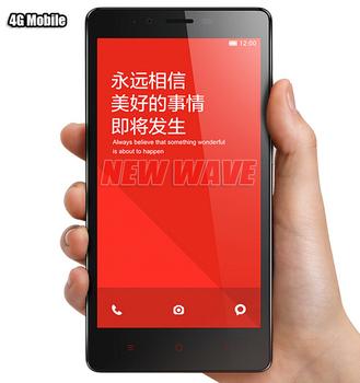 "100% Original Xiaomi Redmi Note enhanced Wcdma 5.5""IPS MTK6592 Otca 1.7G 2G ram13.0MP Mobile Phone multi-language Extra Gifts"