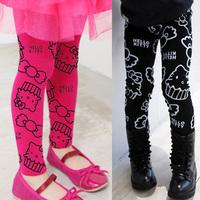 [retail] hot sale popular hello kitty girls leggings,children elastic waist legging,1540
