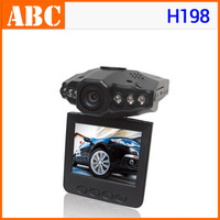 "Drop shipping! Car DVR H198 2.5"" TFT 960P Interpulation Night Vision 6 IR LED with Retail Box 640*480P 30fps Car Video Recorder"