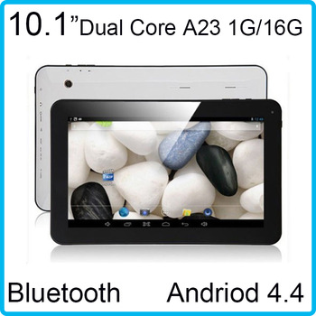1GB/16GB branded bluetooth 1.5Ghz HD 1024*600 dual core android 4.4 10inch tablet pc wifi dual camera Android 4.4 mid