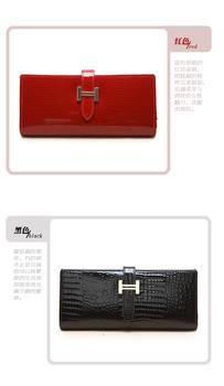 Free shipping (1 pcs)/Korean women wallet Leather crocodile pattern wallet/A01