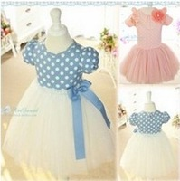 Hot!!Promotions!! baby girl dress 2013 summer polka dot baby dress/little girl elegant princess dress/ball gown honey baby HB13