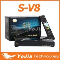 Original Skybox V8 HD Satellite Receiver S-V8 support 2xUSB Port USB Wifi WEB TV  Cccamd Newcamd YouPorn Weather Forecast V8