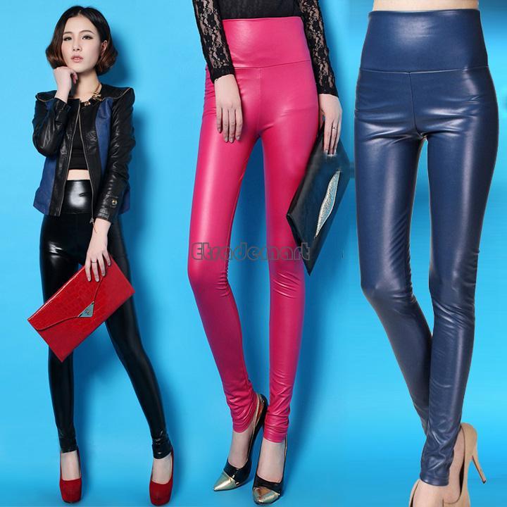 Модные Кожанные Женские Брюки