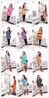 Free Shipping loose big shirt  dress/One-piece dress 2014 plus size one-piece dress