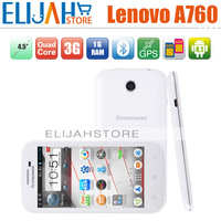 Free Shipping Lenovo A760 Android Phone MSM8225Q Quad Core Phones 3G GPS Dual Sim 76 Languages Russian Spanish etc