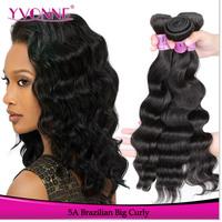 3 Bundles Brazilian Virgin Curly Hair Extension,Grade 5A Natural Human Hair Color 1B,12-28 Inches Aliexpress Yvonne Hair
