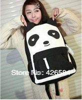 Summer casual shoulder bag female students backpack bag fashion cute panda pattern, free shipping