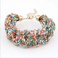 Min Order $10(mix order)Free Shipping!Wholesale Jewelry 2013 Hot Newest Bohemia Fashion Color All-match Beads Bracelet  98192