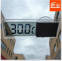 2pieces Free shipping Digital LCD Display Auto Car Indoor Home Household Thermometer With Sucker Cup