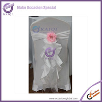hot sale 10pcs white chair sashes organza taffeta with tie,birthday sash  no surging, for wedding party banquet decoration