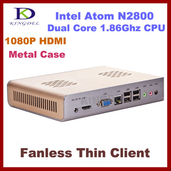 Thin Client, PC Station,1GB& 16GB SSD with Intel Atom N2800 1.86Ghz, Dual Core Quad Threads,WIFI, HDMI support Windows XP
