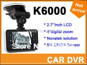 "100% Original Novatek Car Dvr K6000 1920*1080P Full HD 2.7"" LCD G-Sensor Night Vision 140 Wide Angle Lens Car Video Recorder"