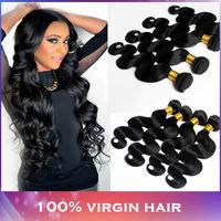 Peruvian Body Wave Virgin Hair 4 bundles, 5A Grade 100% Unprocessed Peruvian Body Wave1B color, Modern Show Hair Products